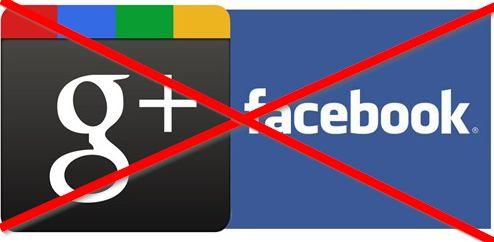 eliminare account facebook e google