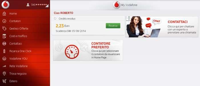 Come contattare Vodafone tramite App My Vodafone