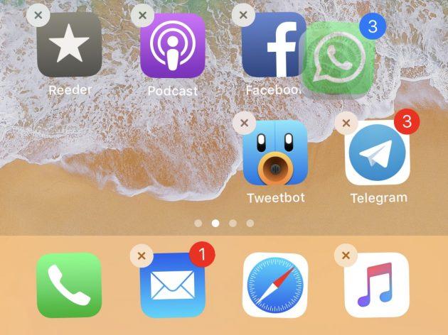 Come spostare più icone insieme su iOS 11
