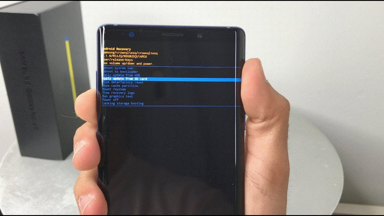 Come effettuare il Factory reset sul Samsung Galaxy Note 9
