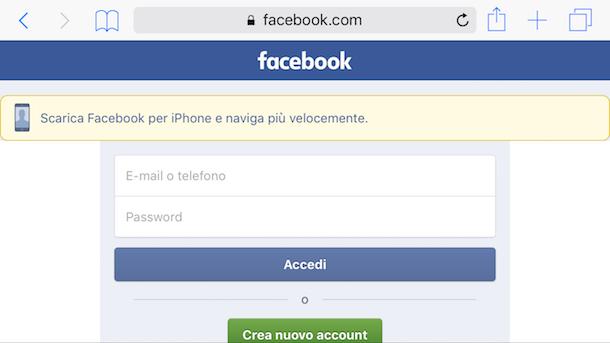 Come ripristinare Facebook da computer