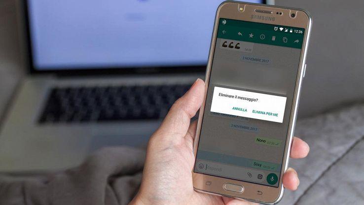 Come rimuovere messaggi su WhatsApp oltre il limite di tempo prestabilito