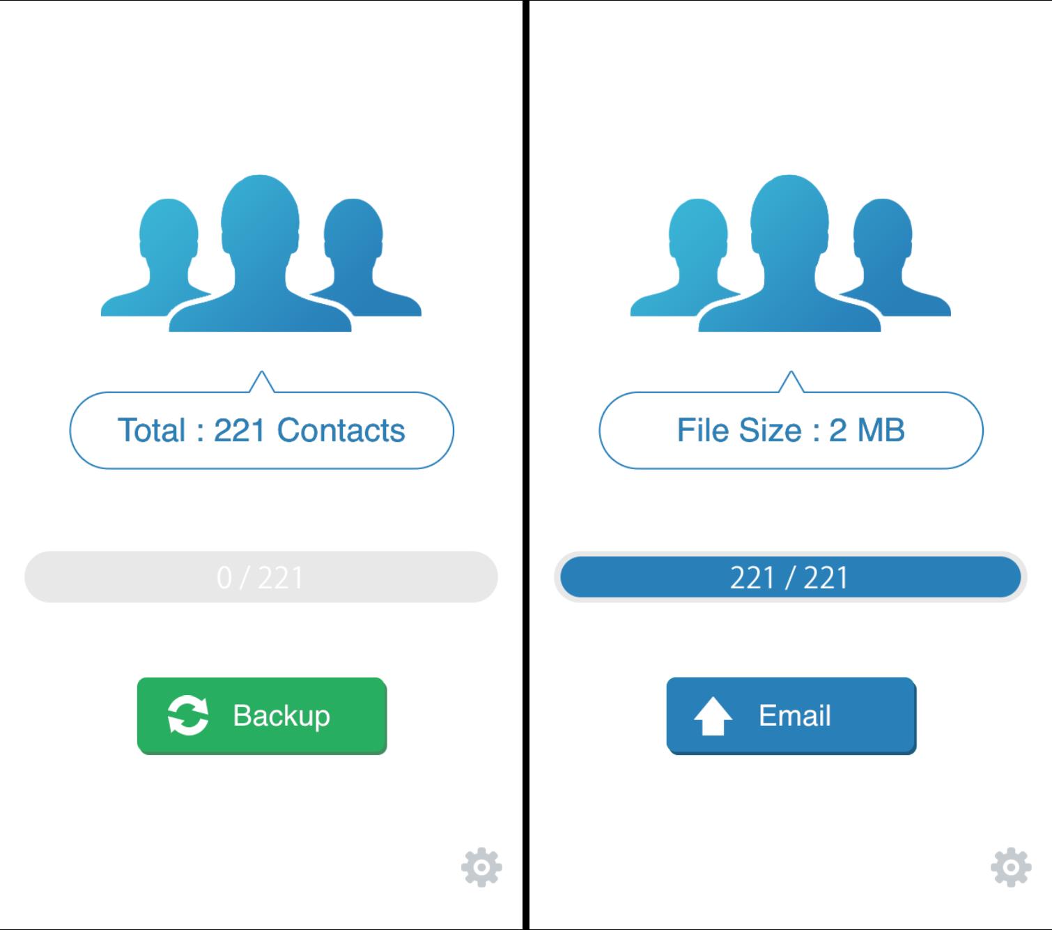 Come salvare la rubrica di iPhone con My Contacts Backup