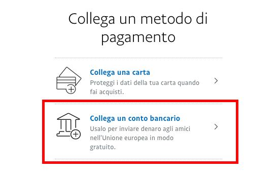 Come aggiungere un conto corrente tramite il sito web di PayPal