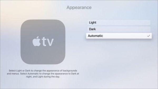 Come attivare la Dark Mode su Apple TV