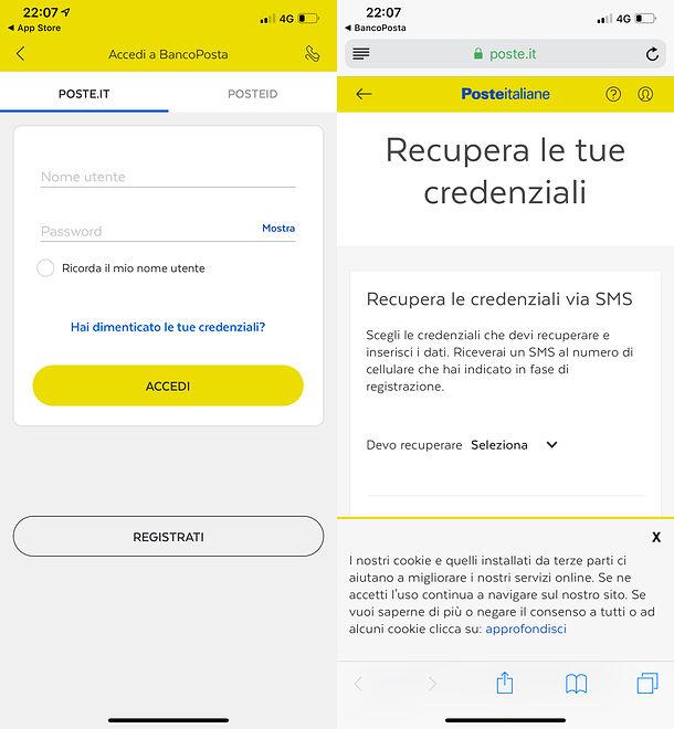 Come cambiare password BancoPosta da smartphone o tablet