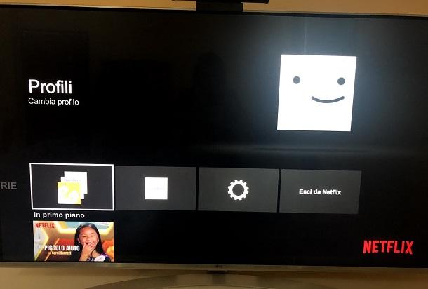 Come cambiare password Netflix da Smart TV