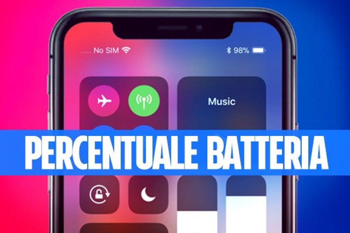 Come vedere la percentuale della batteria