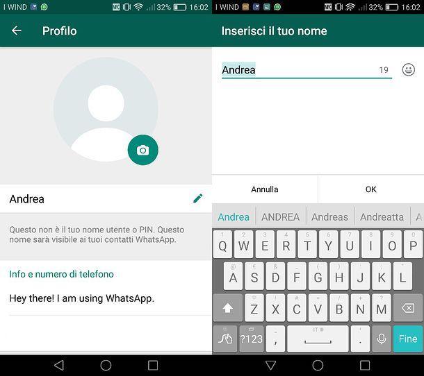 Come cambiare il nome del profilo su WhatsApp