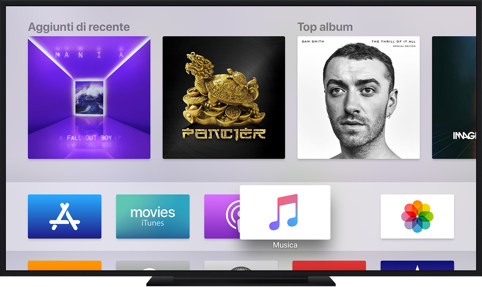 Come nascondere app su Apple TV