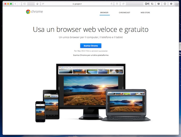 Come impostare Chrome come browser predefinito su Mac