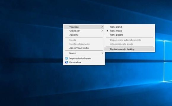 Come ripristinare le icone sparite dal PC Windows 10