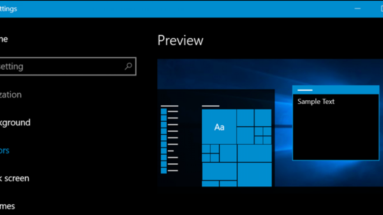 Come attivare tema scuro su Windows 10