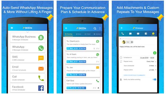 Come pianificare messaggi WhatsApp