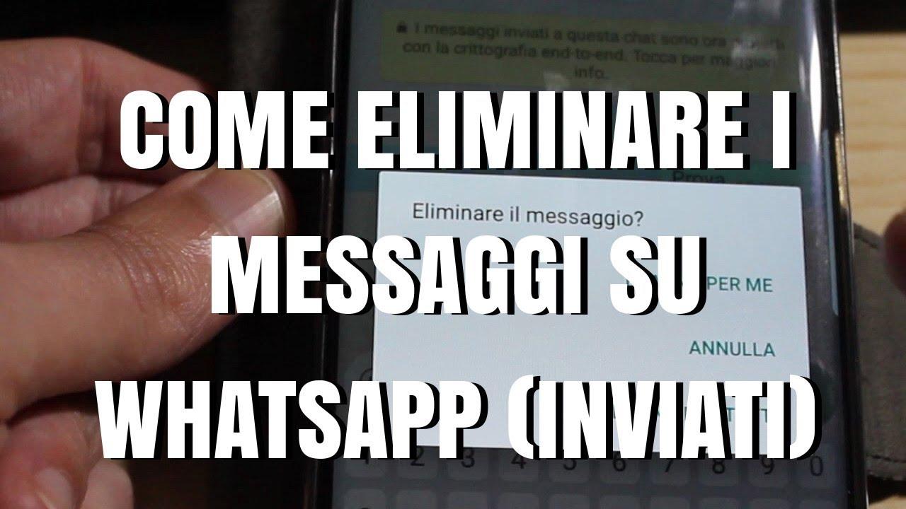 Come eliminare i messaggi WhatsApp inviati