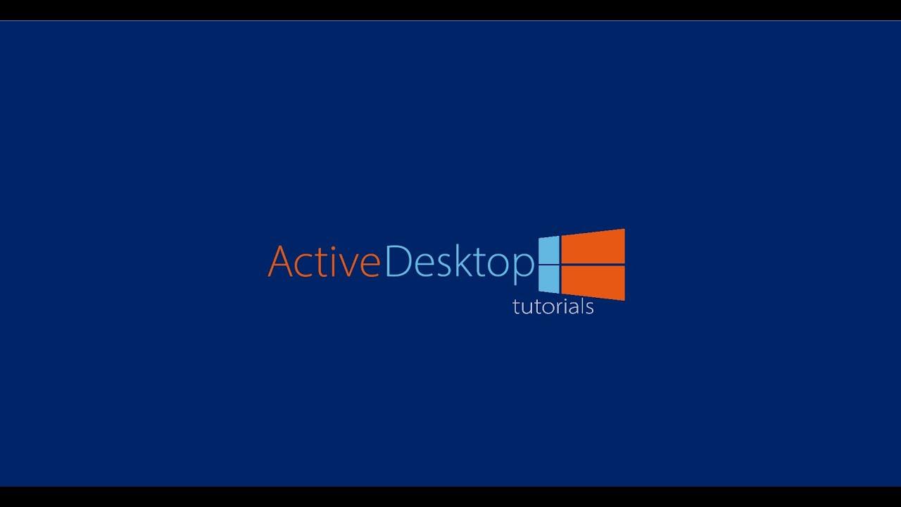 Come risolvere il messaggio di errore di ripristino di Active Desktop