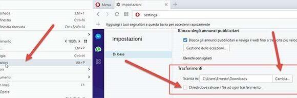 Come cambiare la cartella predefinita per i tuoi download in Opera