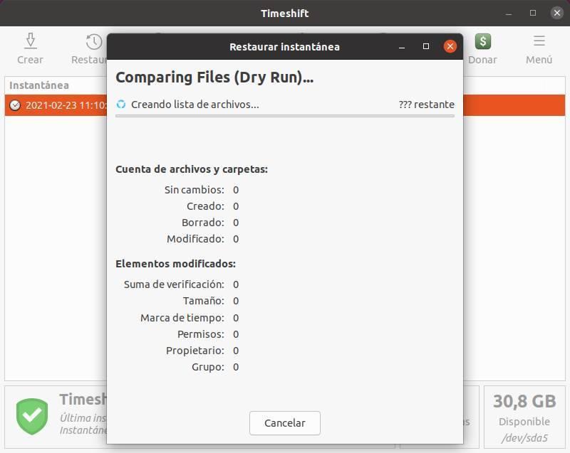 Punto di ripristino TimeShift di Linux - 11