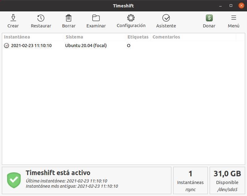 Punto di ripristino TimeShift di Linux - 9