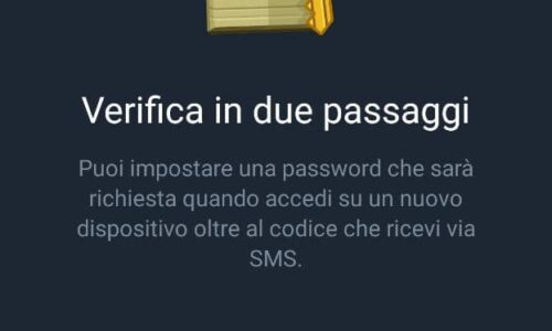Come attivare la verifica in due passaggi Telegram su Android/iPhone
